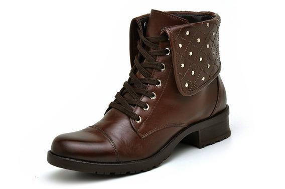 Coturno Feminino Couro Atron Shoes 7502 Pro