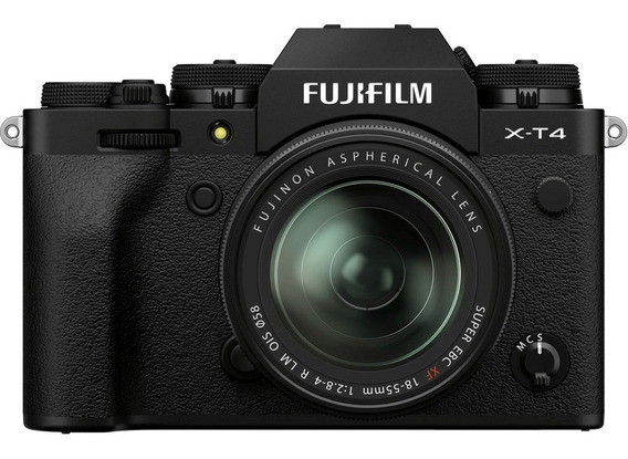 Kit Mirrorless Fujifilm X-t4 4k Com Lente Xf 18-55mm (preta)