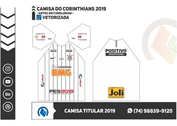 Vetor Camisas Do Corinthians Para Sublimação Mais Fonte 2019