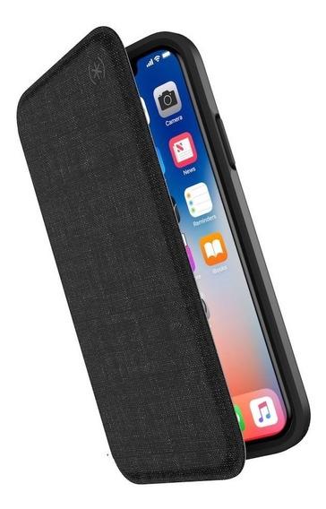 Funda Para iPhone X Xs Speck Presidio Folio Gris Oscuro