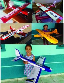Dois Kit Avião Aeromodelo Para Montar Frete Gratis Eletrico