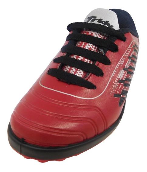 Botin Rojo Tridy, Papi Futbol, Futsal. Talles 27 Al 34