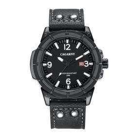 Relógio Masculino 6853 Preto Quartz Cagarny Original C/caixa