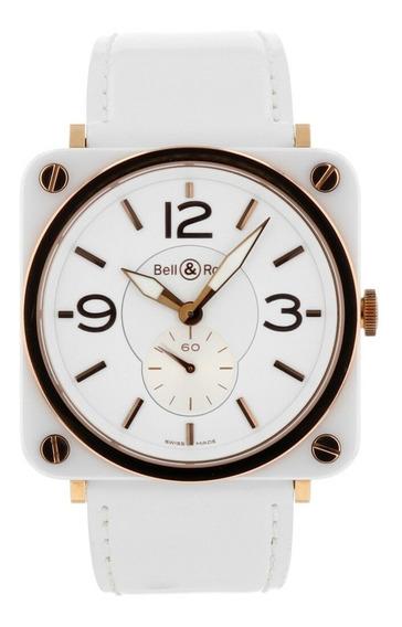Relógio Bell & Ross Brs 98 Em Cerâmica E Ouro 18k Único