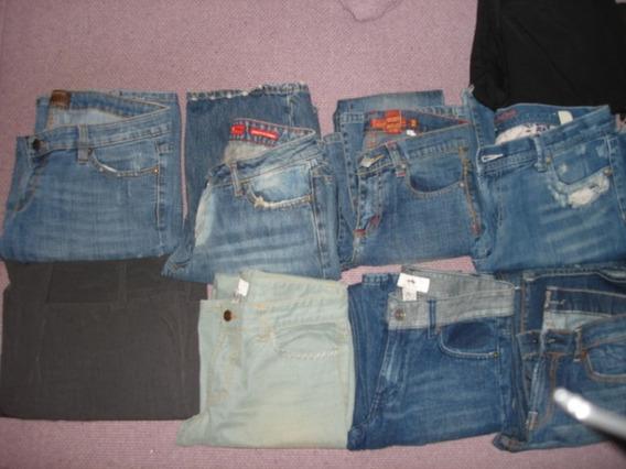Lote De 13 Pantalones Y Jeans Tallas Chicas