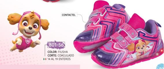 Tenis De Luz Para Niña Fiusha 801-56 Cklass Kids 2-19 P