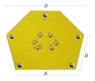 Esquadro Magnético Para Soldas Mult Ângulo 35kg 75lb