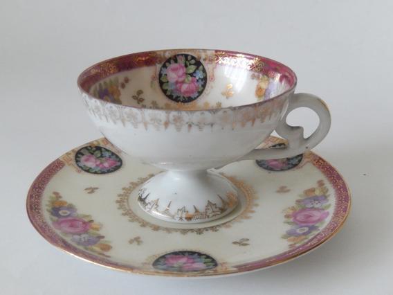 Pocillo Y Plato Porcelana Viejo Viena