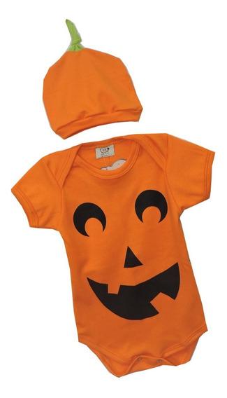 Body De Bebê Halloween Abóbora