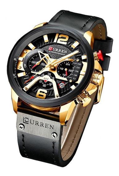 Relógio Masculino Curren 8329 Pulseira Couro