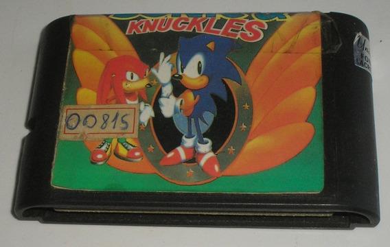 Sonic & Knuckles Mega Drive Usada Funcionando Ok De Época 90