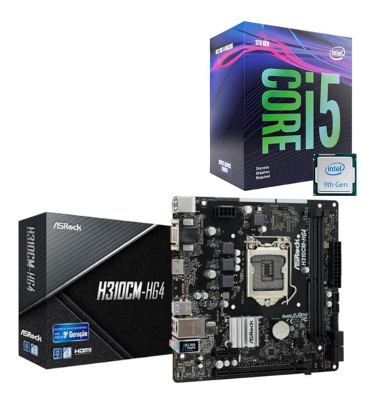 Kit Upgrade 9ª Geração Intel I5 9400f + Asrock H310cm Hg4