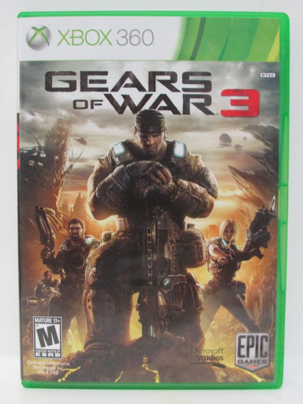 Gears Of War 3 - Game Xbox 360 Original Mídia Física