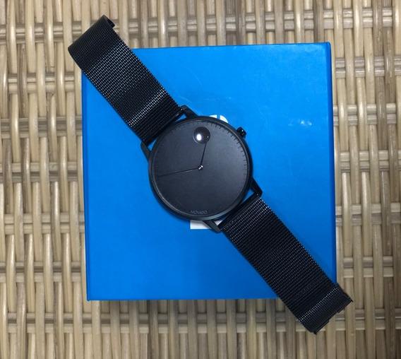 Relógio Movado Face Original Azul Masculino 3600261 Seminovo