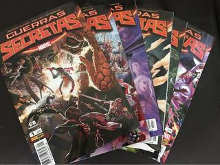 Hq Marvel Guerras Secretas - 01, 02, 03, 05, 06 E 07.