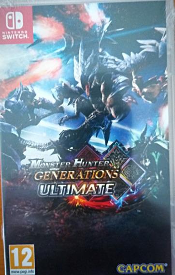 Monster Hunter Generations Ultimate Switch Mídia Física Novo