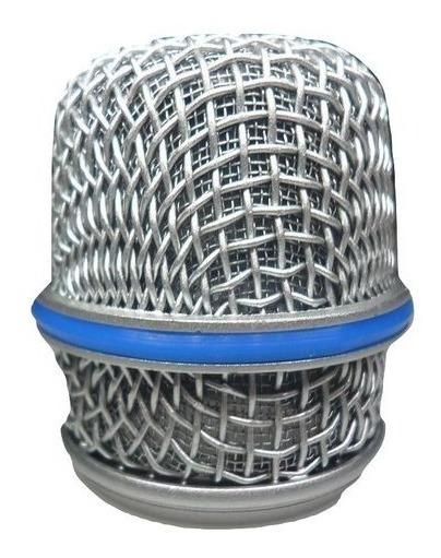 Globo Metalico Cromado Microfone Prata Btm57 Mxt