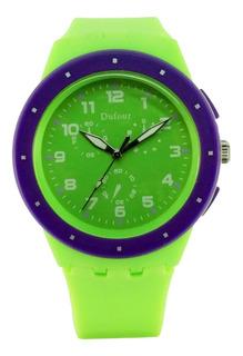 Reloj Dufour Caucho Sumergible Original Nuevo 2019 Garantía