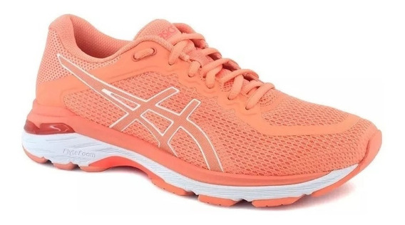 Zapatilla Asics Running Dama Gel Pursue 4 Salmon Blanco Ras
