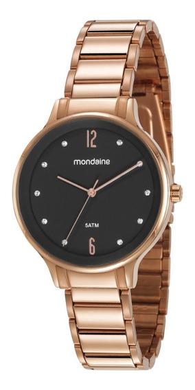 Relógio Mondaine Feminino Rosê Analógico Original Garantia