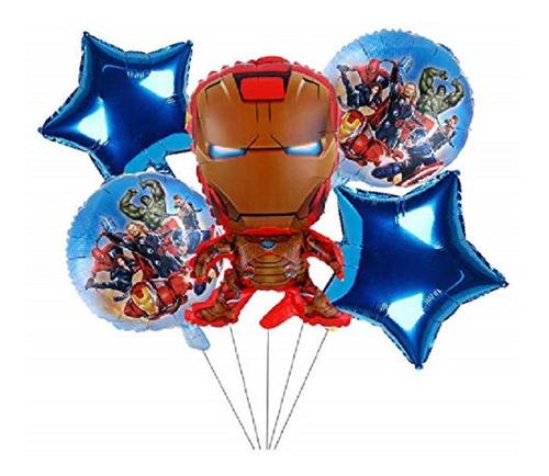 Globos Metalizado Iron Man X5