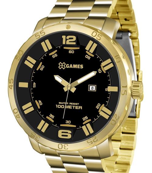 Relógio X-games Grande Dourado Masculino Xmgs1022 P2kx C/ Nf