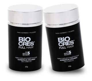 Biocres Full Hair 2x1 Fibra Capilar, Volumen Para Tu Cabello