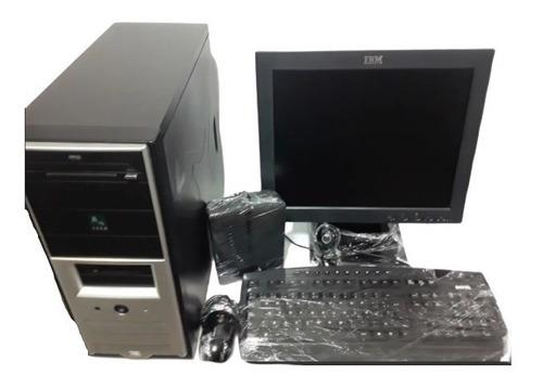 Imagen 1 de 10 de Cpu +monitor+teclado+cornetas+camara+mouse Combo Tienda Virt