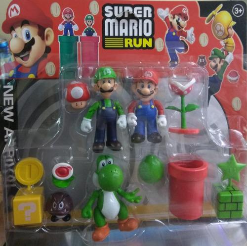 Set De Muñecos De Colección Mario Bros Yoshi Luigi Y Más