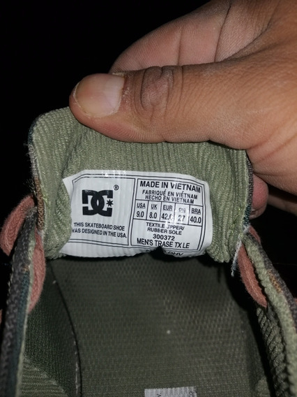 Tenis Dc Shoes Verde Militar