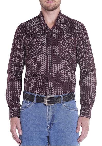 Camisa Masculina M/l Regular Wester Vinho Tassa Social
