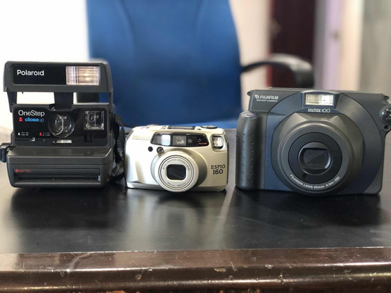 Fujifilm Instax 100 + Polaroid Onestep + Pentax Espio 160