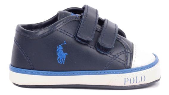 Tenis Polo Ralph Lauren Para Bebé Color Azul Marino