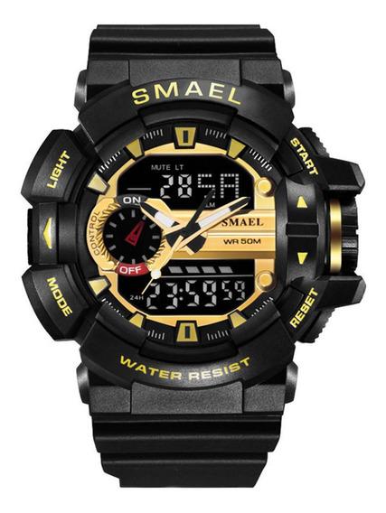 Relógio Digital De Quartzo Esportivo Masculino Blackgold