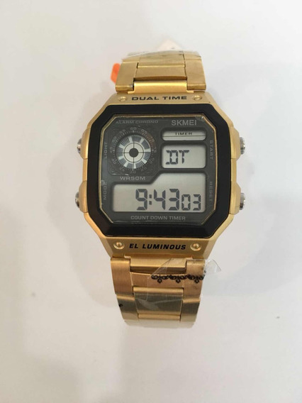 Relógio Skmei 1335 Digital Dourado