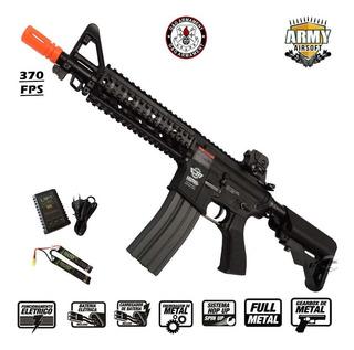 Rifle Airsoft Aeg Elétrico G&g Cm16 Raider Preto M4 6mm