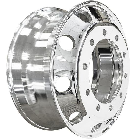 Roda Aluminio 22,5 Forjada Brilho Nos Dois Lados Caminhao