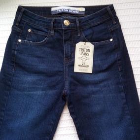 Calça Feminina Jeans Triton Barra Dobrada Super Promoção