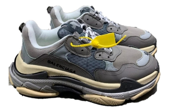 Sneakers Tenis Balenciaga Triple S Gris Remate