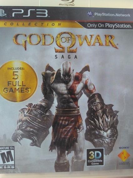 God Of War Saga Ps3 , Contém 3 Jogos ,mídia Física