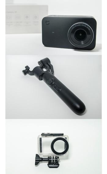 Kit Câmera Xiaomi Mijia 4k + Estabilizador + Caixa Estanque