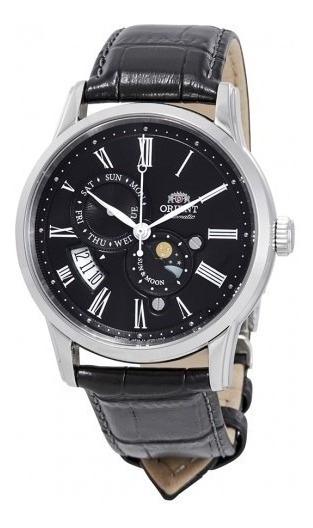 Reloj Orient Sol Y Luna Aut Versión 3 Safiro Negro Original