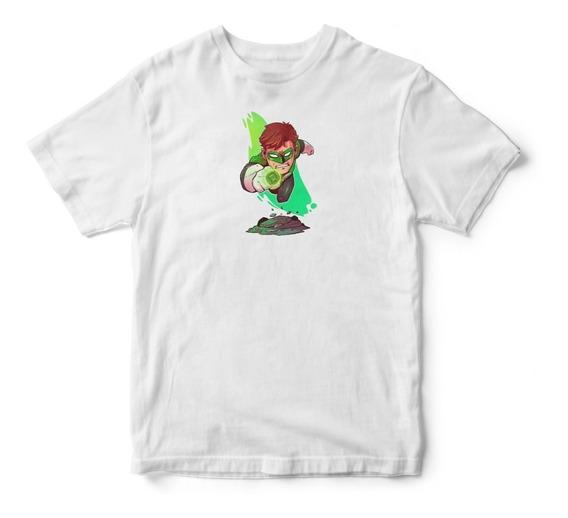 Camisa Camiseta Lanterna Verde Dc Comics Blusas Tumblr Swag
