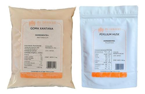 Imagen 1 de 4 de Psyllium Husk Y Goma Xantana 500 Gramos A Granel