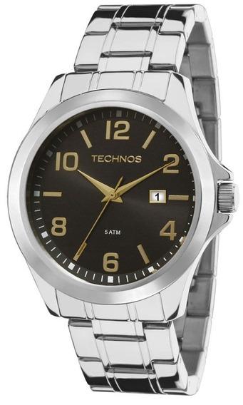 Relógio Technos Prata Masculino Classic 2115mlk/1p
