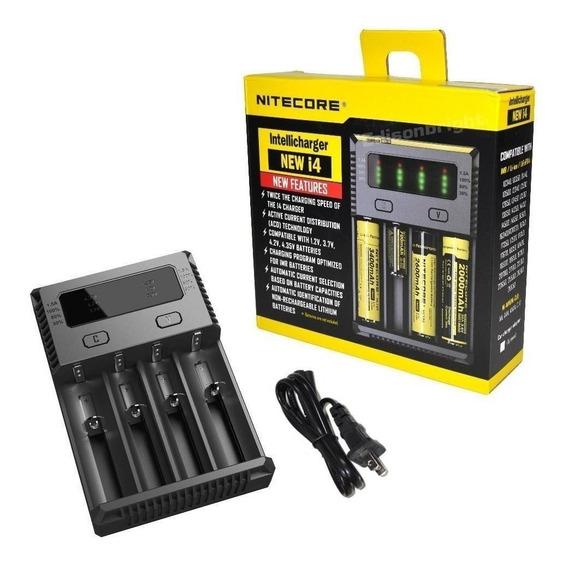 Carregador De Bateria Universal Nitecore I4 Digital