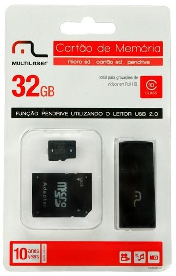Cartão De Memoria 32 Gb Multilaser Classe 10