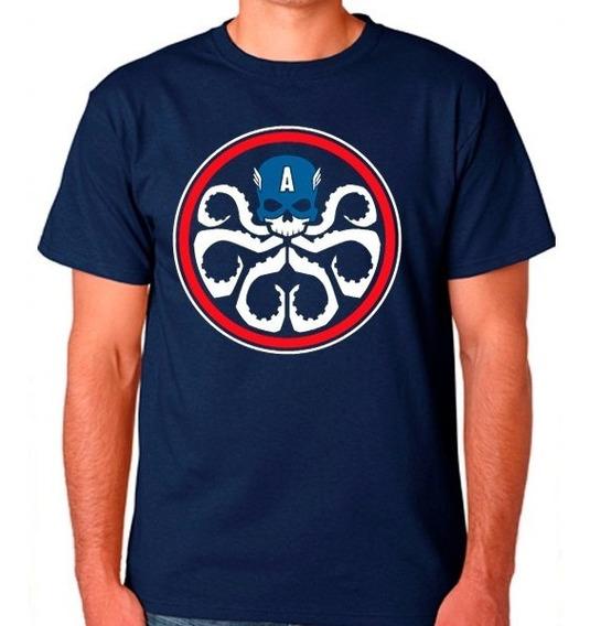 Playera Captain Hydra Avengers Capitan America Civil War