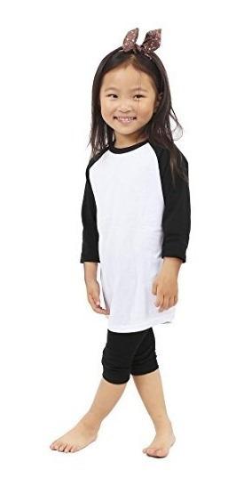 Ks Kids Raglan Camisetas Baseball 3 4 Sleeves Baby Tee Unifo