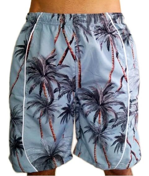 Pantaloneta Hombre Hawaiana Impermeable Deportiva Baño Playa